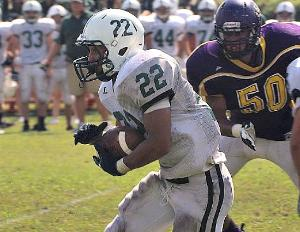 New Milford running back Dante Tobler has become a more aggressive runner this season.